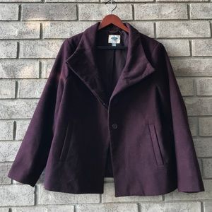Old Navy Peacoat wine coloured